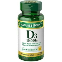 Nature's Bounty D3-10,000 IU Softgels 72 ea [074312358739]