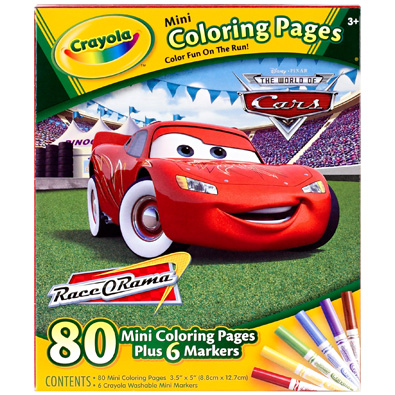 Crayola Mini Coloring Pages - Disney Cars 1 ea - Stockn\'Go