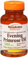 Sundown Evening Primrose Oil 500 mg Softgels 60 Soft Gels [030768023904]