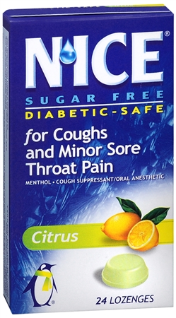 N'ice Lozenges Sugar Free Citrus 24 Each [363736859466]