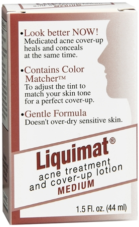 Liquimat Acne Treatment and Cover-Up Lotion Medium 1.50 oz [794731028012]