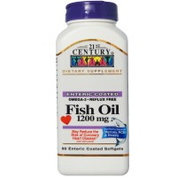 21st Century Fish Oil, 1200mg, Enteric Coated Softgels 90 ea [740985273692]