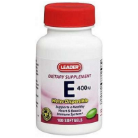Medi-Temp Leader Vitamin E 400iu Water Dispersible Softgels  100 ea [096295102529]