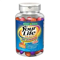 Nature's Bounty Your Life Teen Multivitamin Gummies 70 Each [074312310140]