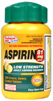 Aspirin 81mg Enteric Safety Coated tablets 300 ea [359726443005]