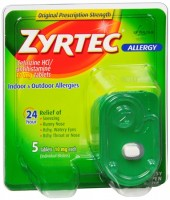 Zyrtec Allergy 10 mg Tablets Blister Pack 5 Tablets [312547204309]