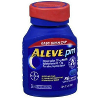 Aleve PM Pain Reliever/Nighttime Sleep-Aid Caplets 80 ea [325866560292]