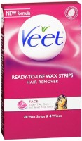 VEET Ready To Use Wax Strips Face 20 Each [062200834984]