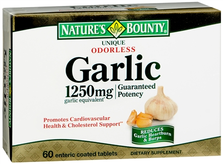 Nature's Bounty Garlic 1250 mg Equivalent Tablets 60 Tablets [074312049118]