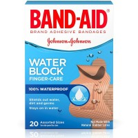 BAND-AID Water Block Finger-Care Bandages, Assorted Sizes 20 Each [381370044468]