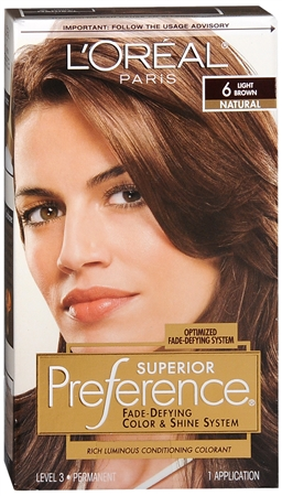 L'Oreal Superior Preference - 6 Light Brown (Natural) 1 Each [071249253106]