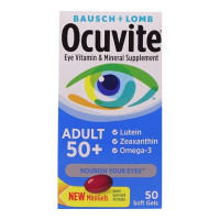 Bausch & Lomb Ocuvite Adult 50+ Eye Vitamin & Mineral Softgels 50 ea [324208465301]