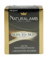 Naturalamb Natural Skin Condoms Lubricated 3 Each [022600980506]
