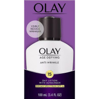 OLAY Age Defying Anti-Wrinkle Day Lotion SPF 15, 3.4 oz [075609015076]