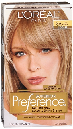 L'Oreal Superior Preference - 8A Ash Blonde (Cooler) 1 Each [071249253205]