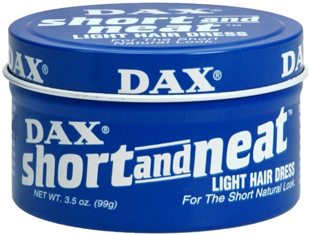 Dax Short and Neat Light Hair Dress 3.50 oz [077315009059]