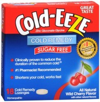 COLD-EEZE Lozenges Natural Wild Cherry Sugar Free 18 Each [091108102994]