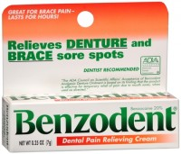 Benzodent Dental Pain Relieving Cream 0.25 oz [041167005323]
