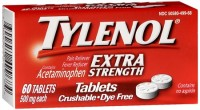 TYLENOL Extra Strength Crushable Tablets 60 Tablets [300450499684]