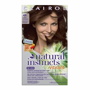 Natural Instincts Clairol Natural Instincts Vibrant Permanent Hair Color 4R Cherry Chestnut (Dark Auburn) 1 Each [381519050091]