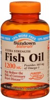 Sundown Naturals Fish Oil 1200 mg With Natural Omega-3 Softgels 90 Soft Gels [030768168889]