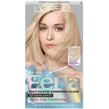 L'Oreal Paris Feria Multi-Faceted Shimmering Color, Very Light beige Blonde [110] (Cooler) 1 ea [071249230244]