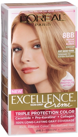 L'Oreal Excellence Creme - 8BB Medium Beige Blonde (Cooler) 1 Each [071249210710]