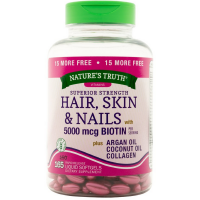 Nature's Truth Superior Strength Hair, Skin & Nails with 5000 mcg Biotin Liquid Softgels 165 ea [840093102119]