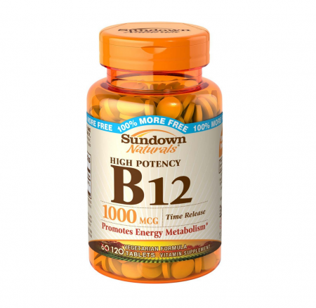 Sundown B-12 1000 mcg Tablets, Time Release 60 ea [030768035457]