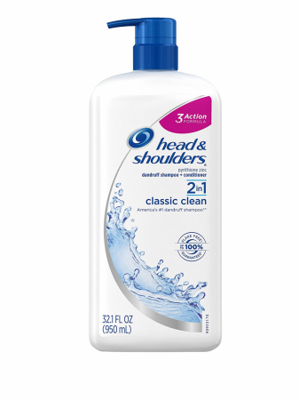 Head & Shoulders 2 In 1 Classic Clean Dandruff Shampoo + Conditioner 32.1 oz [037000962717]
