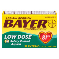 Bayer Low Dose Safety Coated Aspirin 81 mg Tablets 32 ea [312843061323]