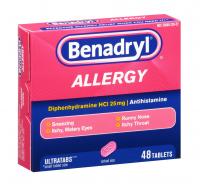 Benadryl Allergy Relief, Ultratab Tablets 48 ea [312547171366]