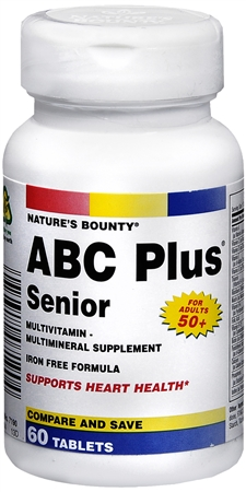 Nature's Bounty ABC Plus Multi-Vitamin Tablets Senior 60 Tablets [074312071904]