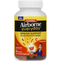 Airborne Everyday Vitamin C Immune Support Supplement and Multivitamin, Gummies, Assorted Fruit Flavor, 50 ct [647865899228]