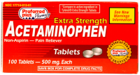 Acetaminophen  Extra Strength 500mg Tablets 100 ea [017714013011]