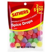 Sathers Spice Drops 12 pack (4.5oz per pack)   [075602101202]