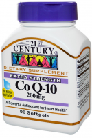 21st Century Co Q-10 200 mg Softgels Extra Strength 90 Soft Gels [740985274149]