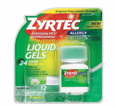 Zyrtec Allergy 10 mg Liquid Gels 12 ea [300450204318]