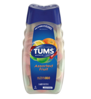 TUMS Ultra Strength 1000 Tablets Assorted Fruit 160 Chewable Tablets [307660746102]