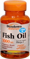 Sundown Naturals Fish Oil 1000 mg With Natural Omega-3 Softgels 50 Soft Gels [030768180768]