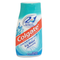 Colgate 2-in-1 Toothpaste and Mouthwash, Whitening, Icy Blast 4.60 oz [035000764164]