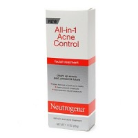 Neutrogena All-in-1 Acne Control Facial Treatment Lotion 1 oz [070501022016]