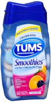 TUMS Smoothies Extra Strength Tablets Assorted Tropical Fruit 60 Tablets [307667429916]