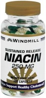 Windmill Niacin 250 mg Capsules Sustained Release 100 Capsules [035046003319]