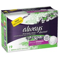Always Discreet Maximum Absorbency Incontinence Underwear, Small 19 ea [037000887362]