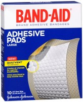 BAND-AID Adhesive Pads Comfort-Flex Large 10 Each [381370047681]