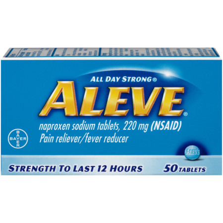 Aleve Pain Reliever/Fever Reducer Tablets, 50 ea [325866105035]