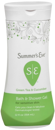 Summer's Eve Bath and Shower Gel Sensitive Skin Green Tea/Cucumber 12 oz [041608001051]