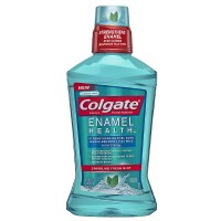 Colgate Enamel Health Anticavity Fluoride Mouthwash, Sparkling Fresh Mint 16.90 oz [035000671585]