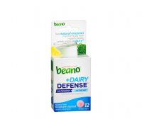 Beano Plus Dairy Defense Food Enzyme Dietary Supplement Tablets, Raspberry 12 ea [042037106812]